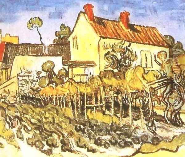 House Of Pere Pilon The II Oil Painting - Vincent Van Gogh