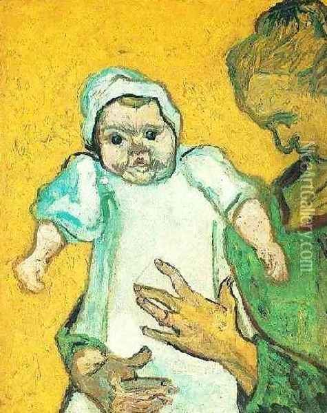 Mother Roulin With Her Baby II Oil Painting - Vincent Van Gogh