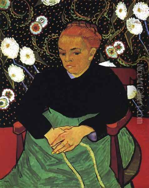 Madame Roulin Rocking The Cradle (La Berceuse) Oil Painting - Vincent Van Gogh