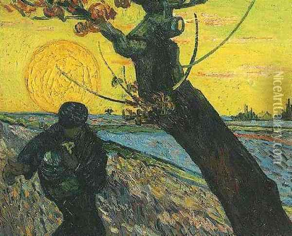 Sower The II Oil Painting - Vincent Van Gogh