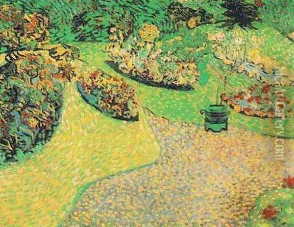 Garden In Auvers Oil Painting - Vincent Van Gogh