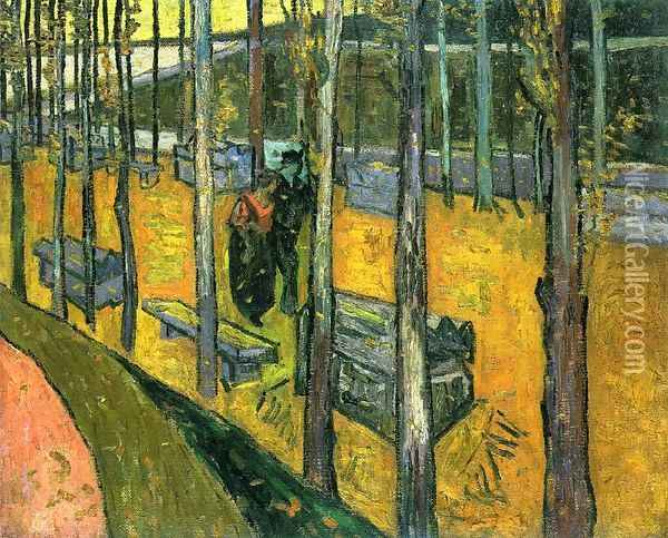 Les Alyscamps II Oil Painting - Vincent Van Gogh