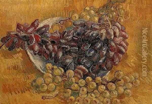 Still Life With Grapes Oil Painting - Vincent Van Gogh
