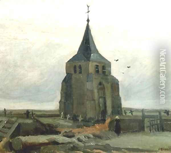 Old Church Tower At Nuenen The II Oil Painting - Vincent Van Gogh