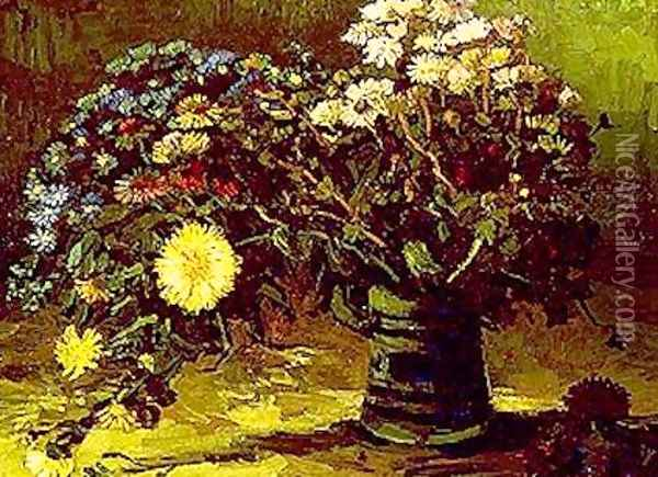Vase With Daisies Oil Painting - Vincent Van Gogh