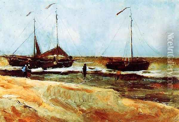 The Beach at Scheveningen in Calm Weather Oil Painting - Vincent Van Gogh