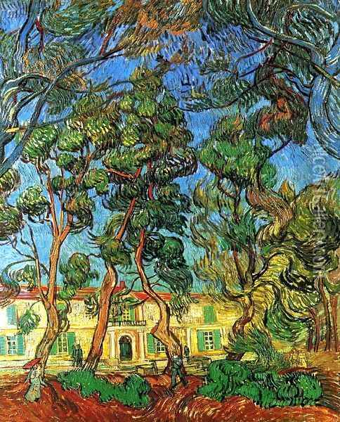 The Grounds of the Asylum Oil Painting - Vincent Van Gogh