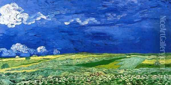 Wheatfields under a Clouded Sky Oil Painting - Vincent Van Gogh