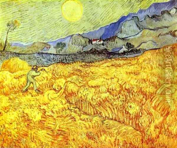 Faucheur 1889 Oil Painting - Vincent Van Gogh