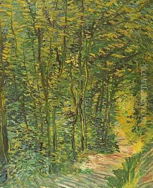 Path In The Woods Oil Painting - Vincent Van Gogh