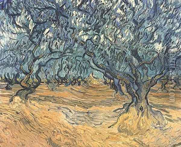 Olive Trees Oil Painting - Vincent Van Gogh
