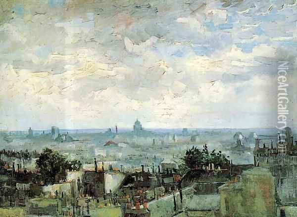 View Of The Roofs Of Paris Oil Painting - Vincent Van Gogh