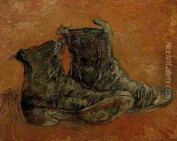 Pair Of Shoes A II Oil Painting - Vincent Van Gogh