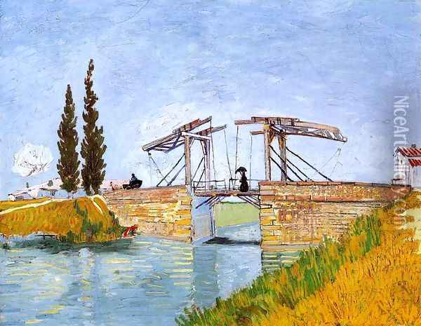 The Langlois Bridge Oil Painting - Vincent Van Gogh