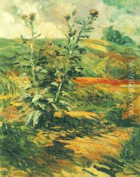 Two Thistles Oil Painting - Vincent Van Gogh