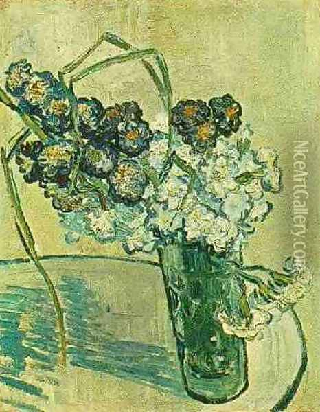 Glass With Carnations Oil Painting - Vincent Van Gogh