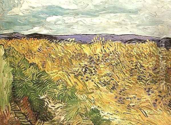 Wheat Field With Cornflowers Oil Painting - Vincent Van Gogh