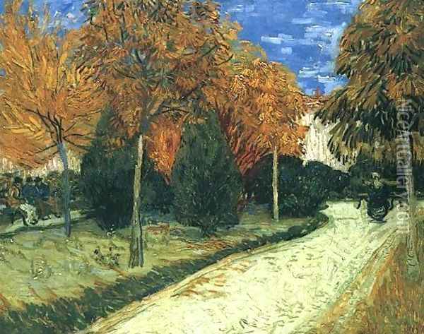 The Public Park At Arles Oil Painting - Vincent Van Gogh