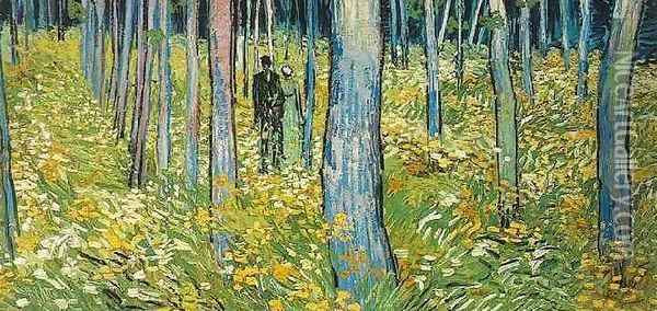 Undergrowth With Two Figures Oil Painting - Vincent Van Gogh