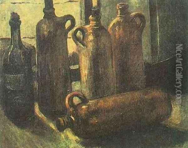 Still Life With Five Bottles Oil Painting - Vincent Van Gogh