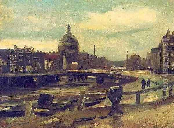 View Of Amsterdam From Central Station Oil Painting - Vincent Van Gogh