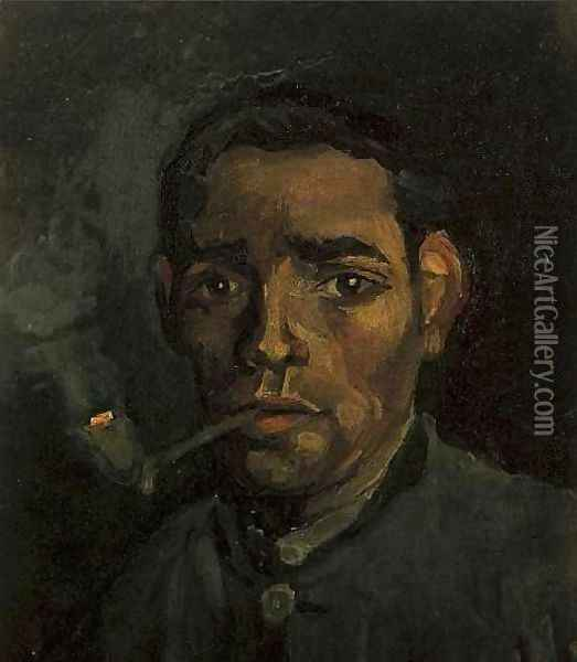 Head Of A Man II Oil Painting - Vincent Van Gogh