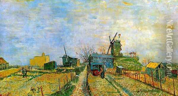 Vegetable Gardens in Montmartre Oil Painting - Vincent Van Gogh
