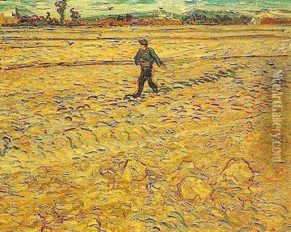 Sower The IV Oil Painting - Vincent Van Gogh