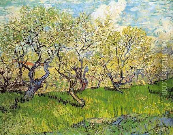 Orchard in Blossom I Oil Painting - Vincent Van Gogh