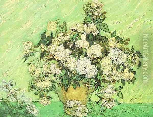 Vase With Roses Oil Painting - Vincent Van Gogh
