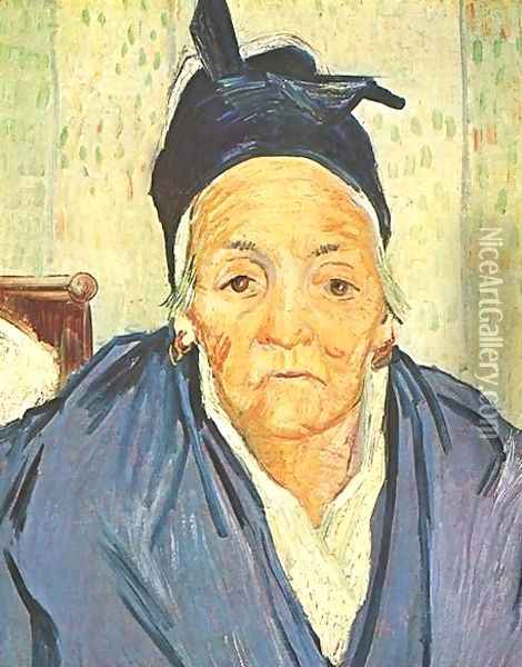 Old Woman Of Arles An Oil Painting - Vincent Van Gogh