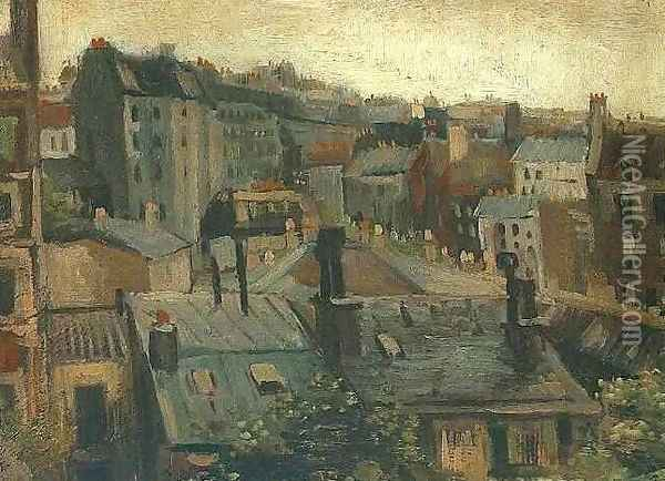 View Of Roofs And Backs Of Houses Oil Painting - Vincent Van Gogh