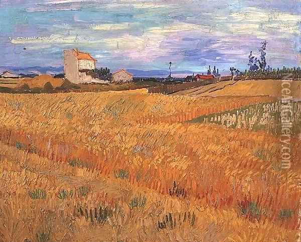 Wheat Field Oil Painting - Vincent Van Gogh