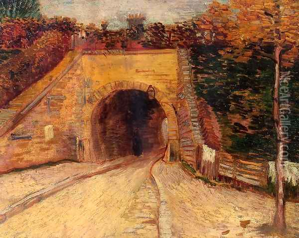 Roadway With Underpass (The Viaduct) Oil Painting - Vincent Van Gogh