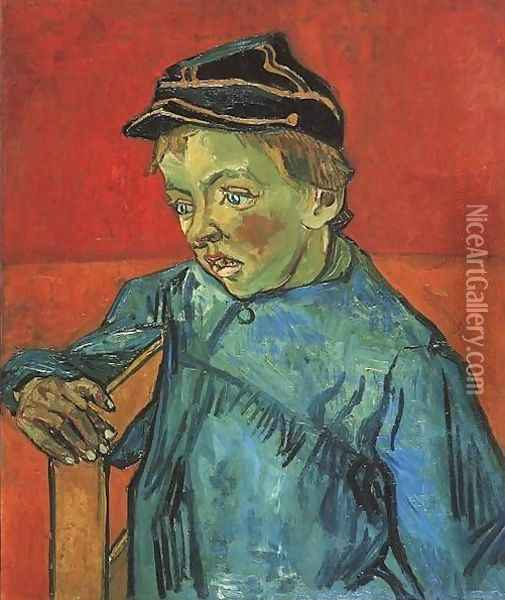 The Schoolboy (Camille Roulin) Oil Painting - Vincent Van Gogh
