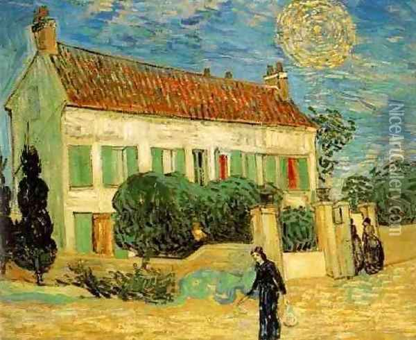 The White House At Night Oil Painting - Vincent Van Gogh