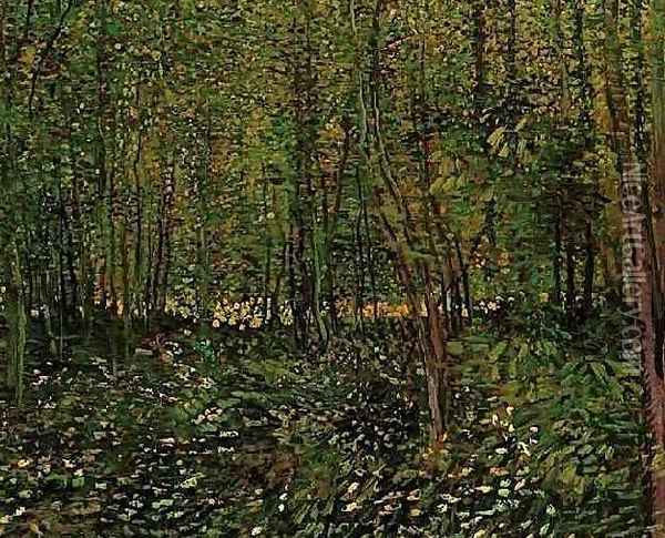 Trees And Undergrowth II Oil Painting - Vincent Van Gogh