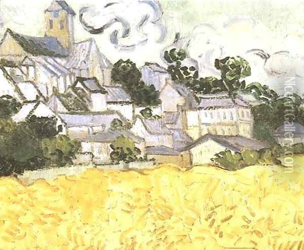 View Of Auvers With Church Oil Painting - Vincent Van Gogh