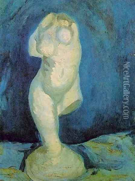 Plaster Statuette Of A Female Torso II Oil Painting - Vincent Van Gogh