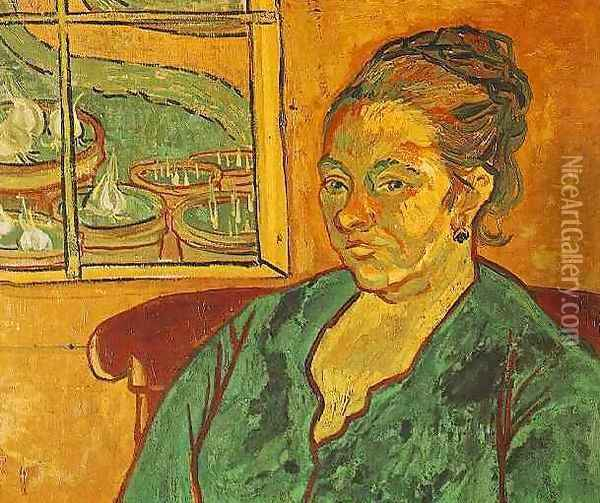 Portrait Of Madame Augustine Roulin Oil Painting - Vincent Van Gogh
