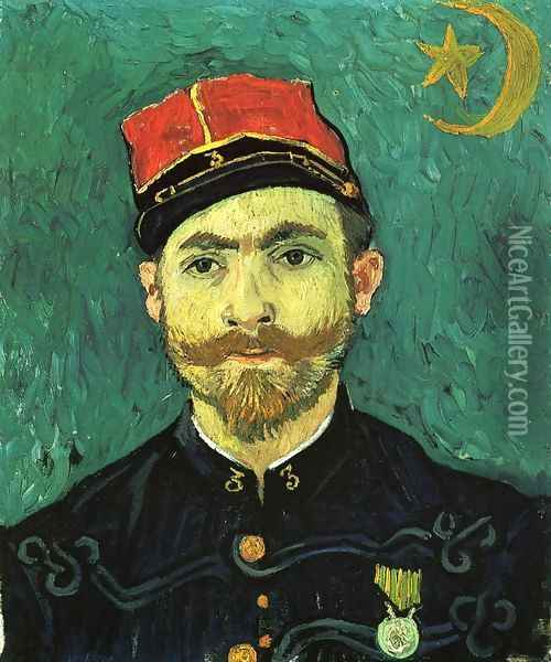 The Lover, Portrait of Paul--Eugene Milliet Oil Painting - Vincent Van Gogh