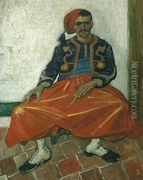 The Seated Zouave Oil Painting - Vincent Van Gogh