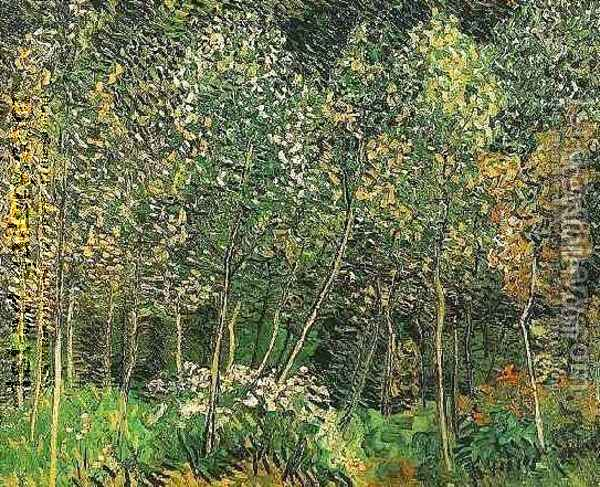 The Grove Oil Painting - Vincent Van Gogh