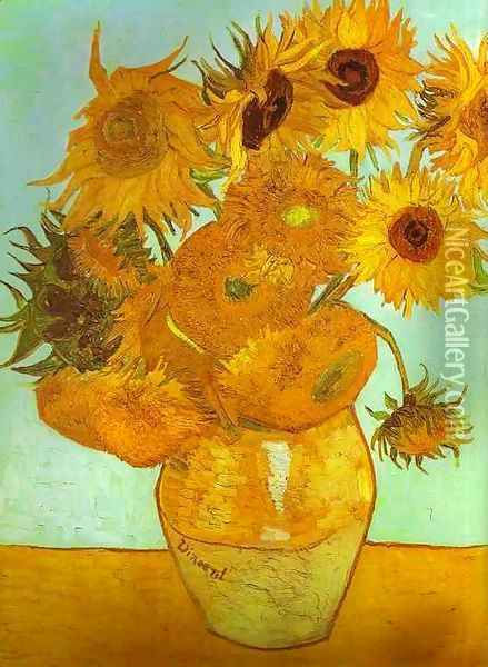 Les tournesols 1888 Oil Painting - Vincent Van Gogh