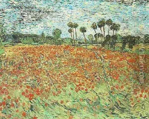 Field With Poppies Oil Painting - Vincent Van Gogh