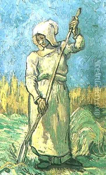 Peasant Woman With A Rake (after Millet) Oil Painting - Vincent Van Gogh