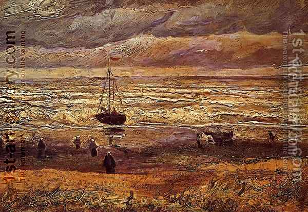 The Beach at Scheveningen Oil Painting - Vincent Van Gogh