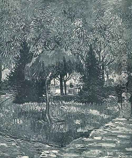 The Park At Arles With The Entrance Seen Through The Trees Oil Painting - Vincent Van Gogh