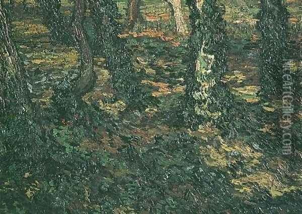 Tree Trunks With Ivy II Oil Painting - Vincent Van Gogh