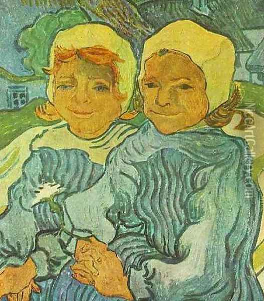 Two Children Oil Painting - Vincent Van Gogh
